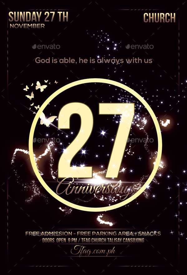 Church Anniversary Flyer by Anea27 GraphicRiver