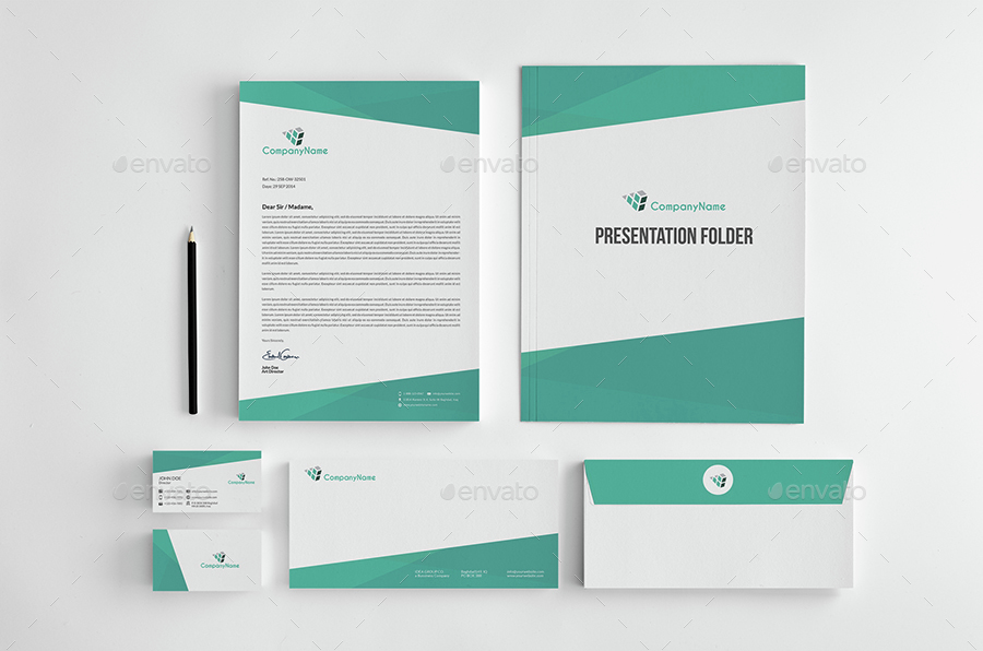 Corporate Stationery Pack Design Template Vol12 by OWPictures