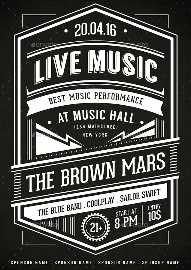 Music Typography Poster / Flyer by vynetta GraphicRiver
