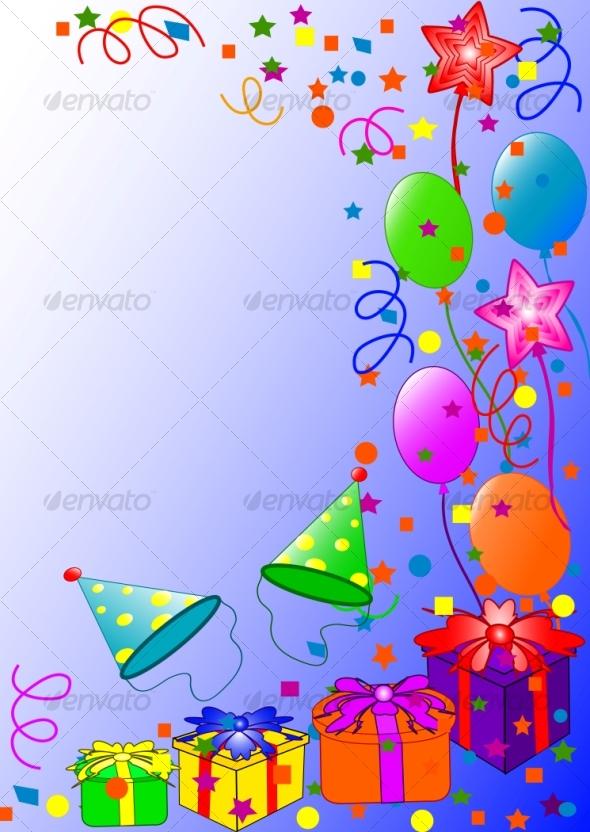 Happy Birthday background by trinochka GraphicRiver - birthday backround