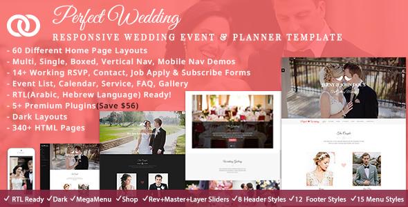 Wedding Event Planner by ThemeMascot ThemeForest
