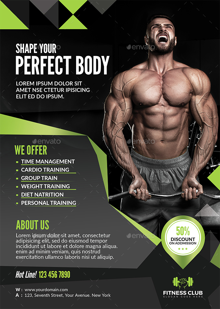Fitness Flyer by themedevisers GraphicRiver - fitness flyer