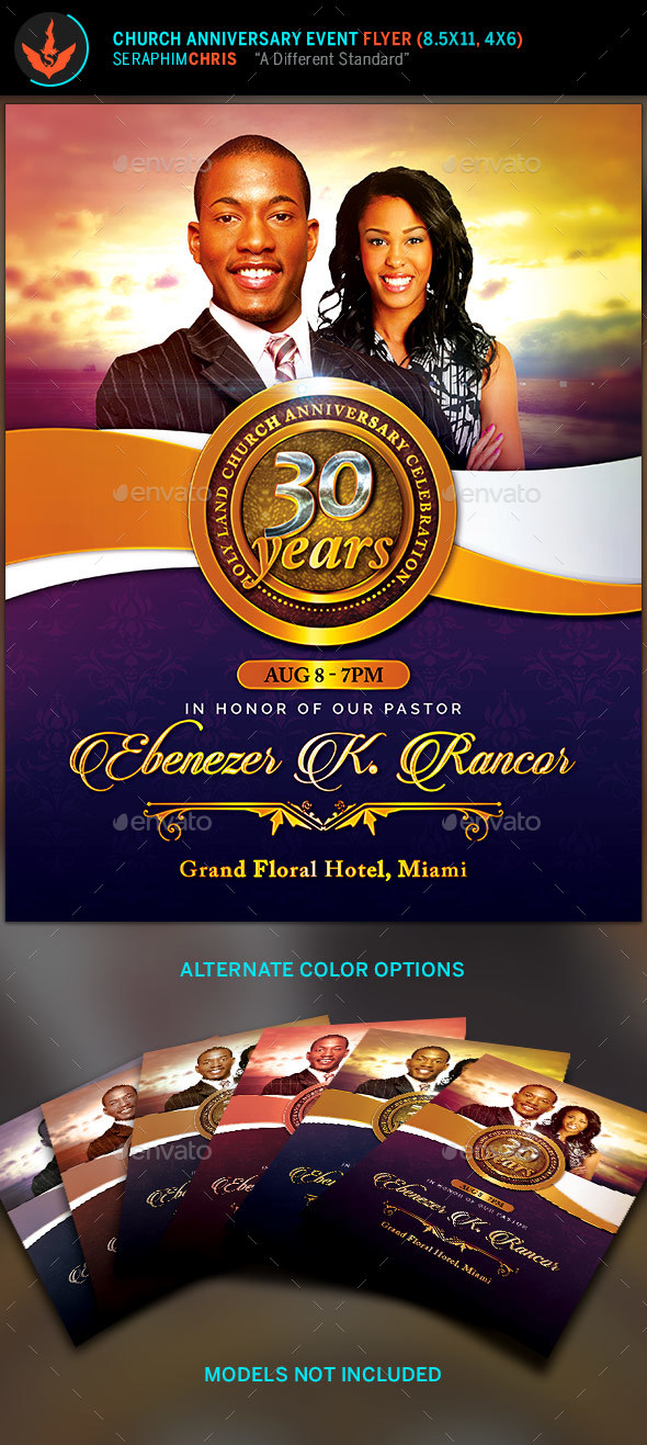 Church Anniversary Flyer Template by SeraphimChris GraphicRiver - anniversary flyer