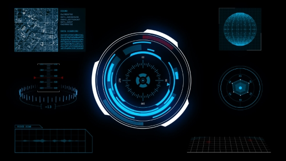3d Hologram Effect Wallpaper Hud Futuristic High Tech Display Scanner By H2d Videohive