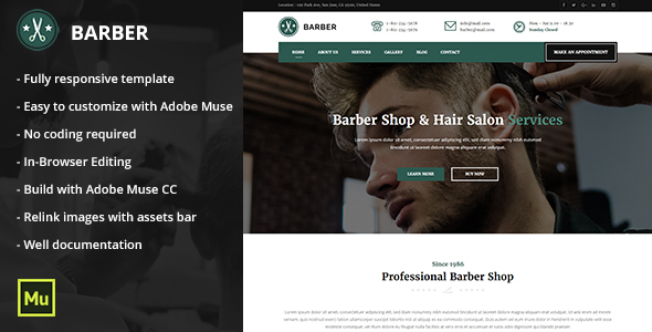 Barber - Responsive Barber Shop and Hair Salon Template by MaximusTheme