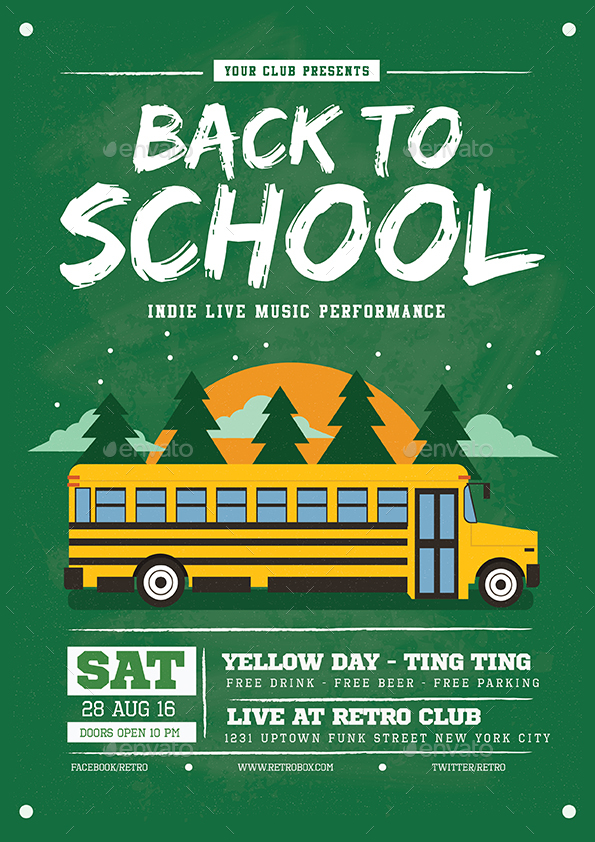 Back To School Flyer/Poster by Guuver GraphicRiver - back to school flyers