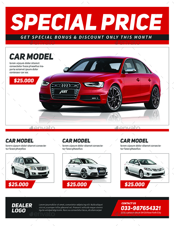 Car Sale Flyer by Guuver GraphicRiver - car sale flyer