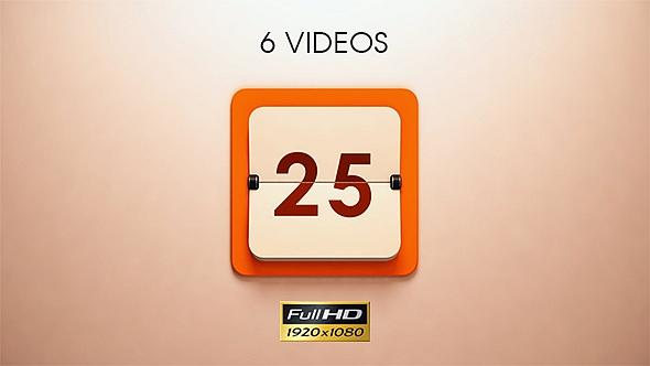 Calendar Countdown - 6 Pack by SergeyPopov VideoHive