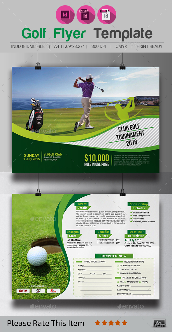 Golf Tournament Flyer Template by aam360 GraphicRiver - golf tournament flyer template