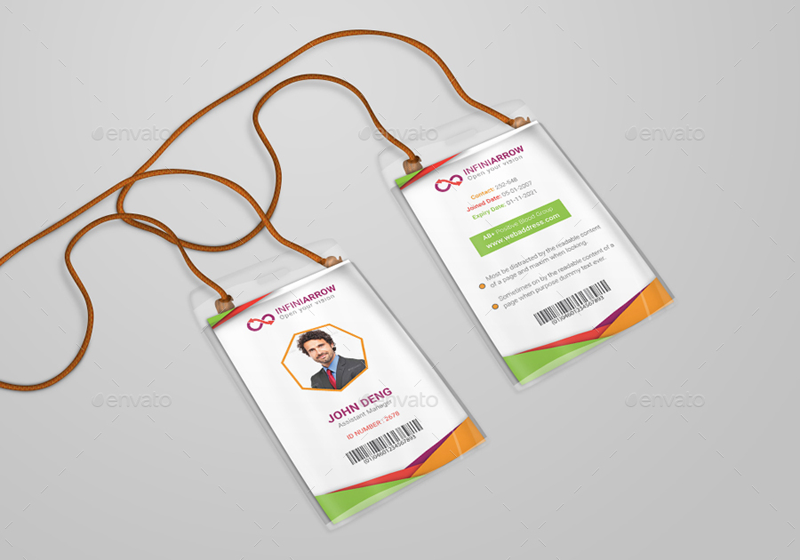 Multipurpose Business ID Card Template by dotnpix GraphicRiver - id card template