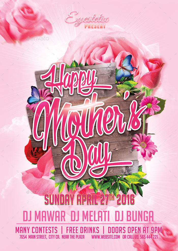 Mother\u0027s Day Flyer by EyestetixStudio GraphicRiver - mothers day flyer