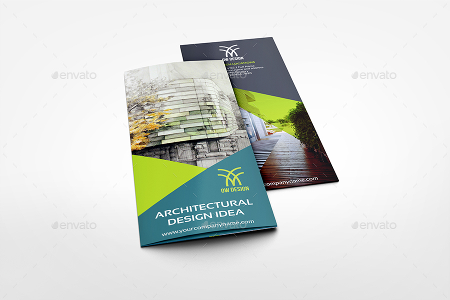 Architectural Design Tri-Fold Brochure Template by OWPictures - architecture brochure template
