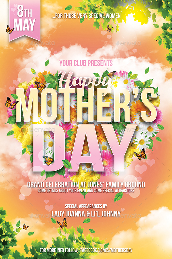 Mother\u0027s Day Flyer Template by IndWorks GraphicRiver - mothers day flyer