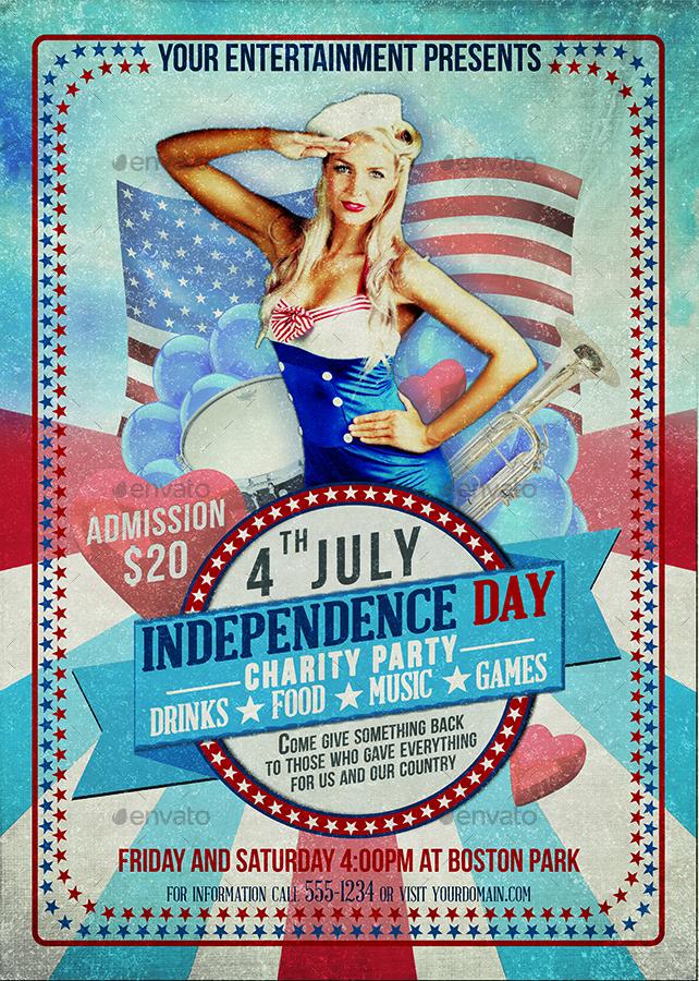 Independence Day Flyer Bundle by DESIGNROOM1229 GraphicRiver - independence day flyer