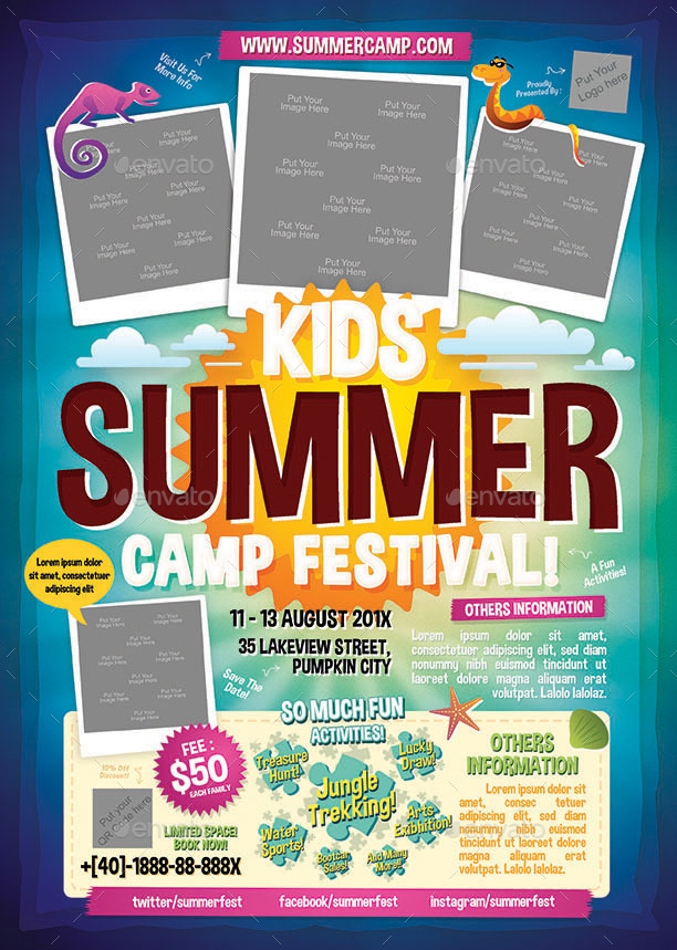 flyers for summer camp templates