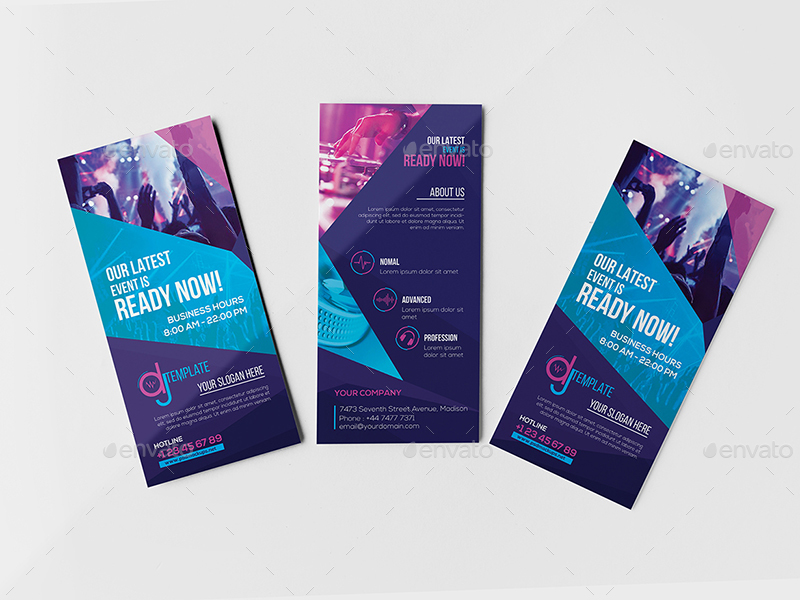 DJ / Rack Card and Business Card Template by wutip2 GraphicRiver