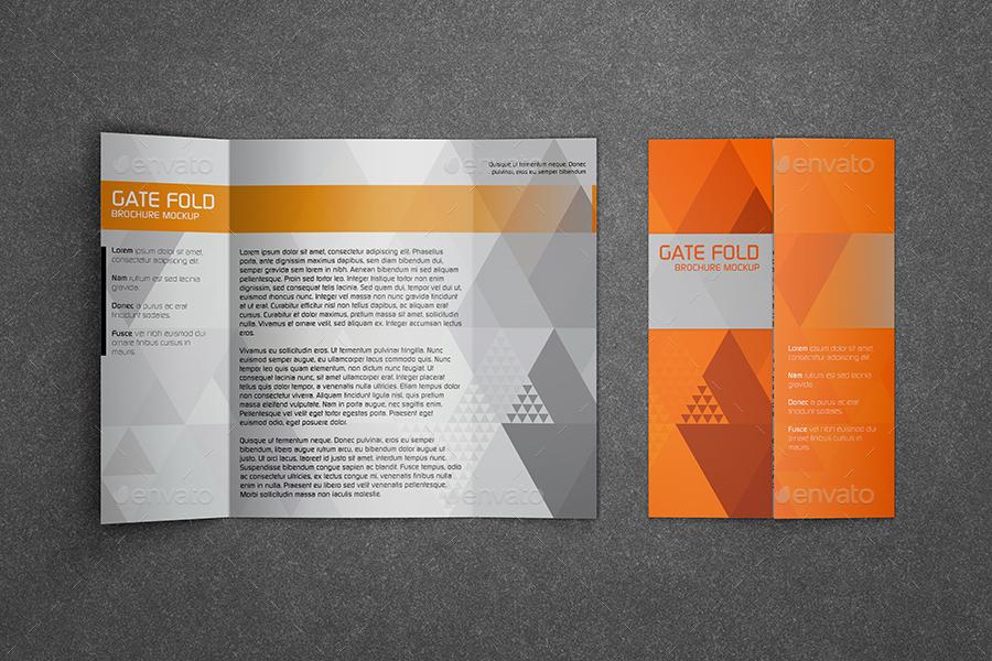 Realistic Gate Fold Brochure Mockup by Kipet GraphicRiver - gate fold brochure mockup