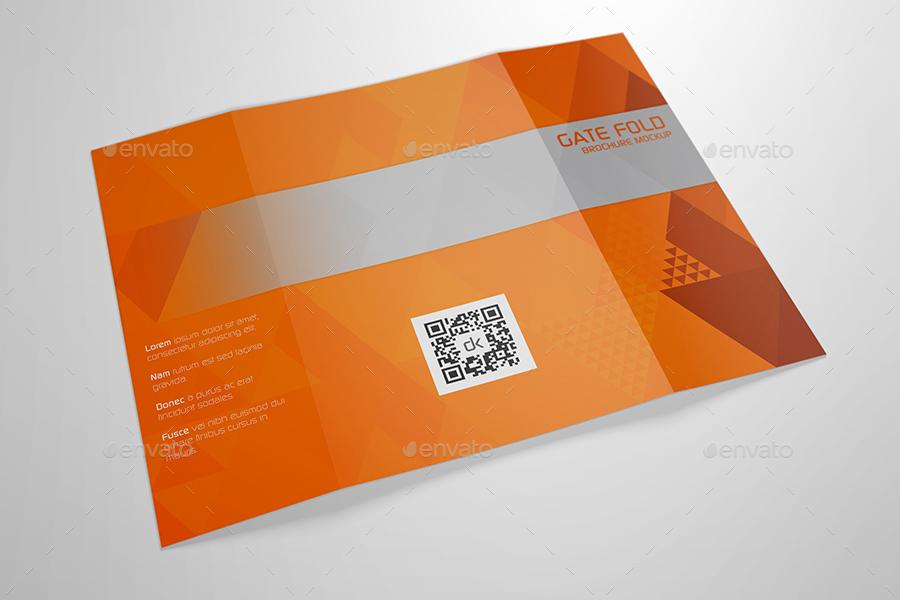 Realistic Gate Fold Brochure Mockup by Kipet GraphicRiver