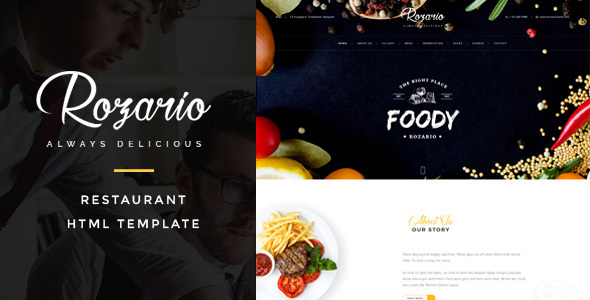 Rozario - Restaurant  Food HTML Template by themeton ThemeForest
