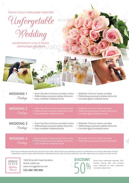 wedding planner flyers - Barcaselphee