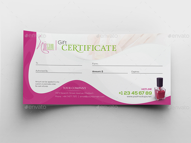 Nail Salon/ Gift Certificate and Business Card Template by wutip2 - gift card templates