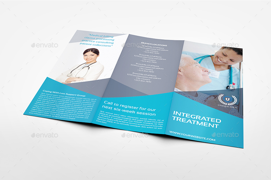 Medical Care Tri-Fold Brochure Template by OWPictures GraphicRiver
