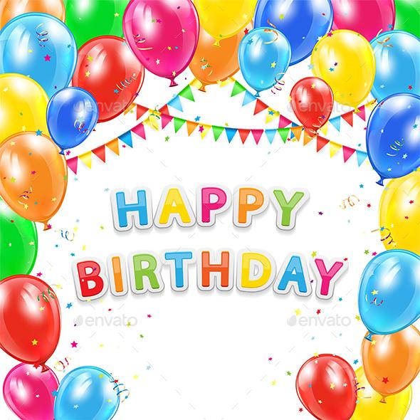 Happy Birthday Background by losw GraphicRiver - birthday backround