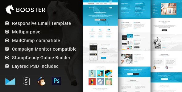 Booster - Multipurpose  Responsive Email Template + Builder by mailway