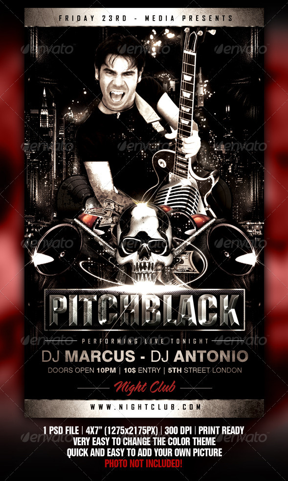 Pitch Black Flyer by Fadeink GraphicRiver