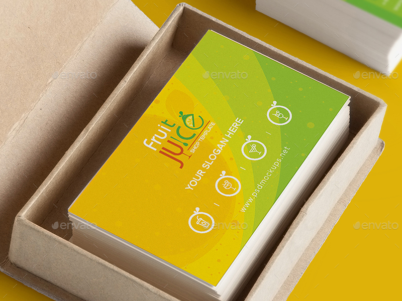 Fruit Juice Shop\/ Gift Voucher and Name Card Template by wutip2 - name card
