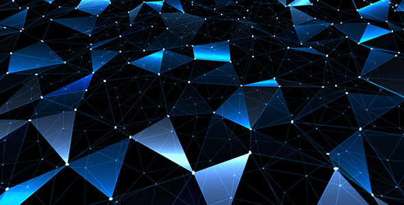 Simple Blue Polygons Background by AS_100 VideoHive