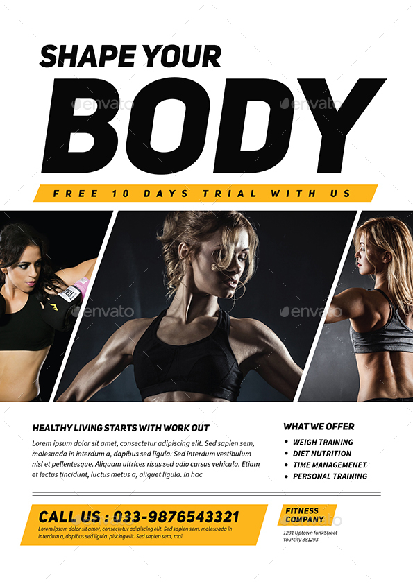 Fitness Flyer by Guuver GraphicRiver - fitness flyer