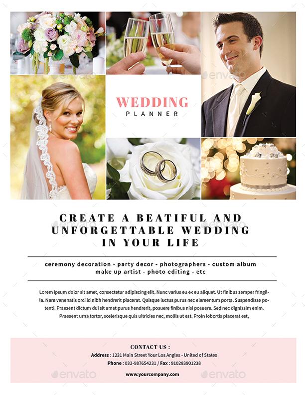 event planner flyer - Onwebioinnovate - wedding flyer