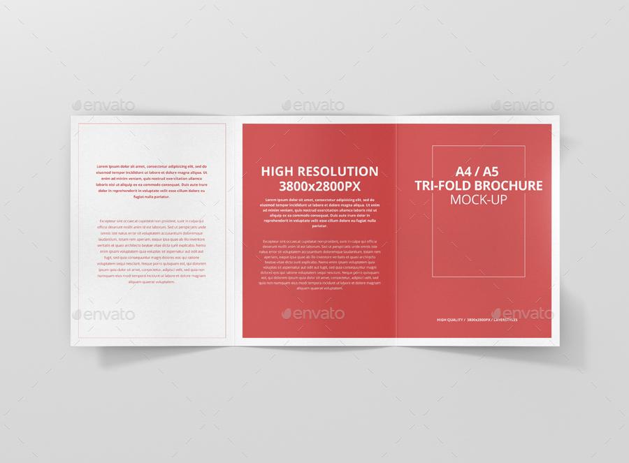 A4 / A5 Tri-Fold Brochure Mock-Up by visconbiz GraphicRiver