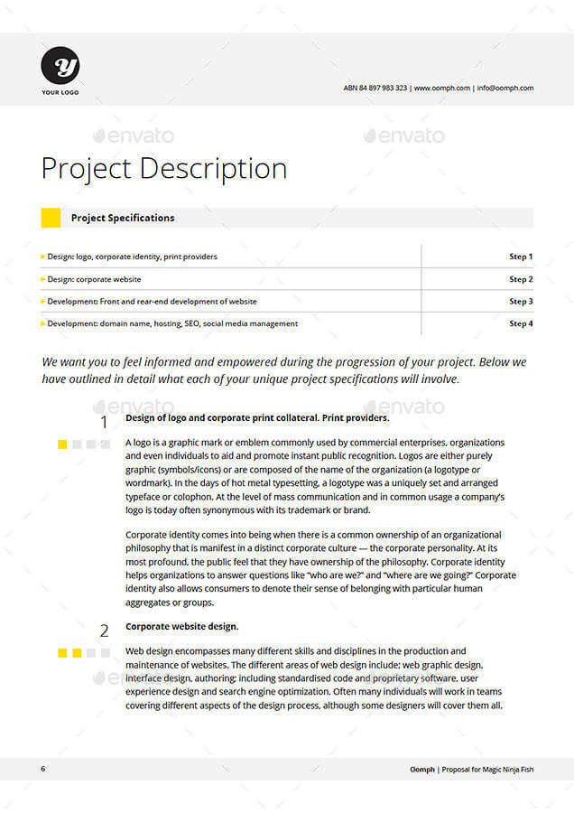 Proposal Template by KennyWilliams GraphicRiver - website proposal template