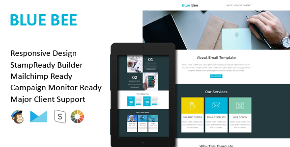 BLUE BEE - Multipurpose Responsive Email Template + Stamp Ready