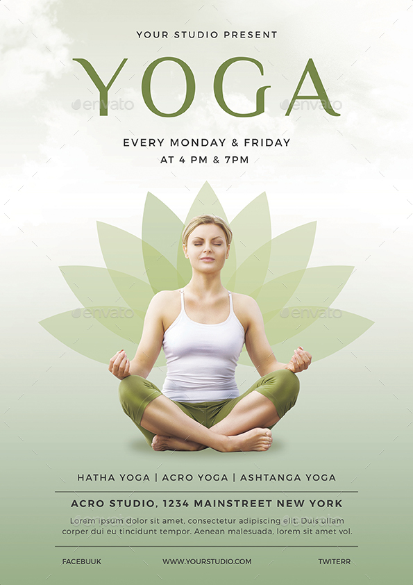 Yoga Flyer by vynetta GraphicRiver - yoga flyer