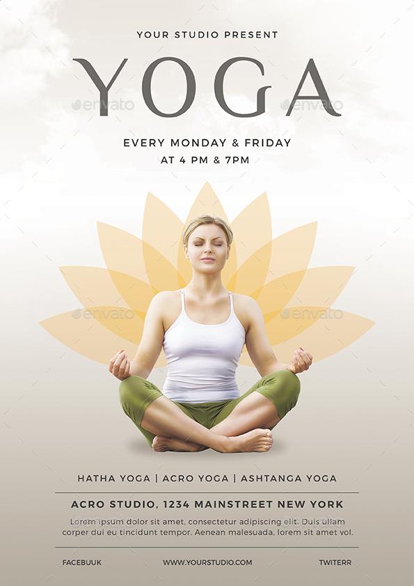 Yoga Flyer by vynetta GraphicRiver