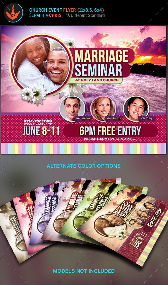 Marriage Seminar Church Flyer Template by SeraphimChris GraphicRiver - seminar flyer
