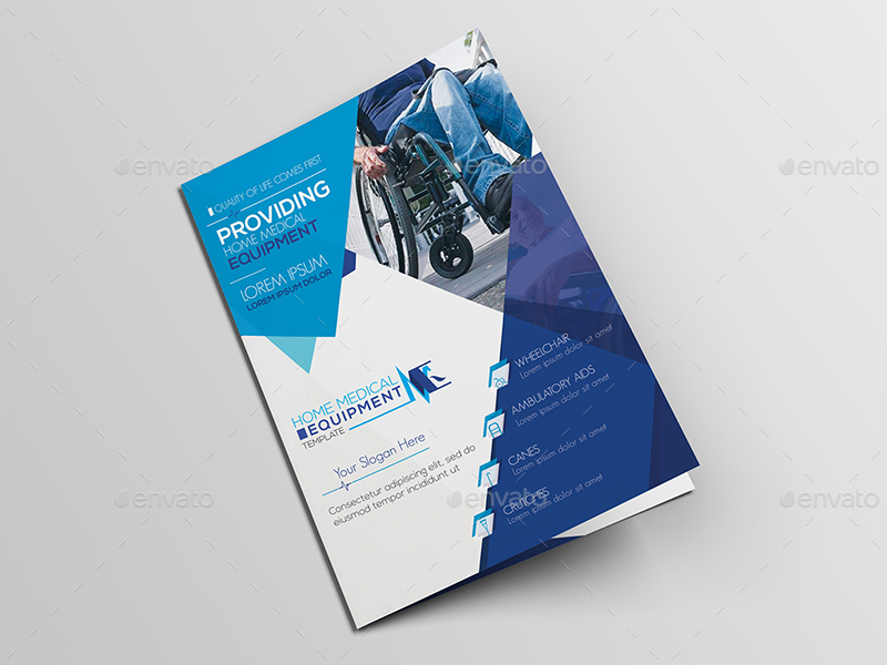 Home Medical Equipment/ A5 Brochure Template by wutip2 GraphicRiver - Medical Brochure Template