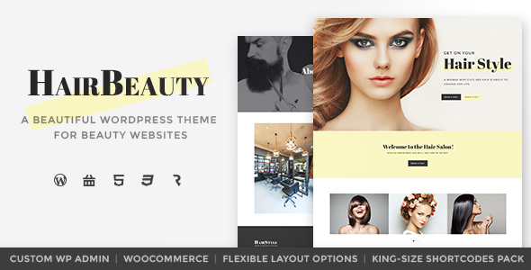 Hair Beauty - Hairdresser, Barber and Hair Salon WordPress Theme by