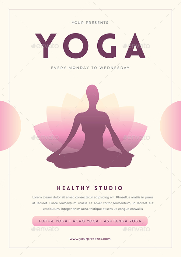 Yoga Flyer by Guuver GraphicRiver - yoga flyer