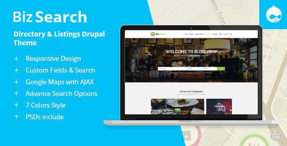 BizSearch - Directory  Listing Drupal Theme by symphonythemes