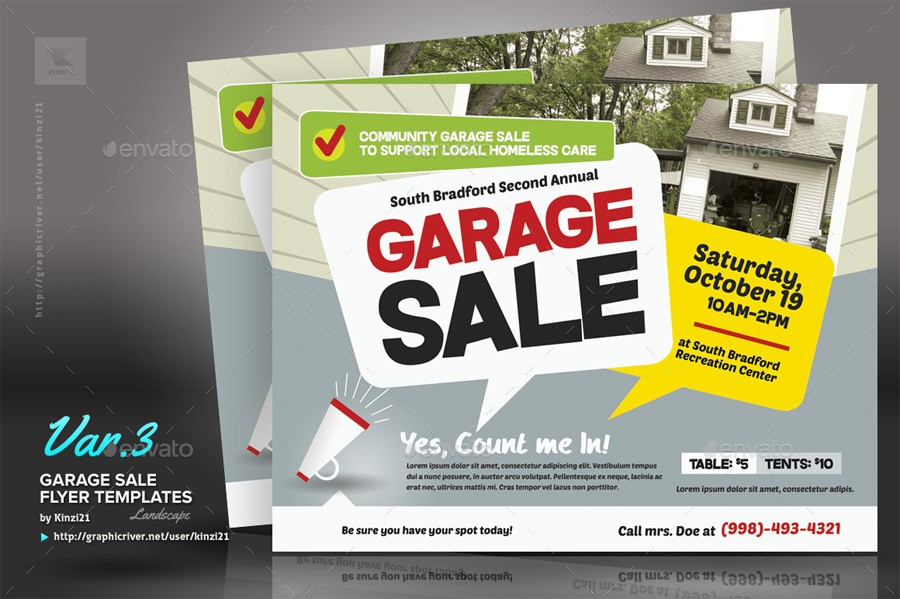 Free Garage Sale Flyer Template  LondaBritishcollegeCo