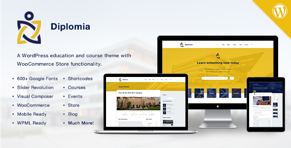 Diplomia WordPress Theme Education WP by CMSSuperHeroes ThemeForest
