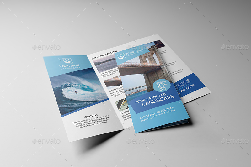 US Letter Tri-Fold Brochure Mock-up by Wutip GraphicRiver