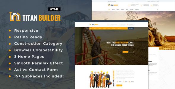 Titan Builders  Construction, Architecture  Building Business HTML