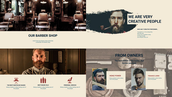 Barber Shop Presentation by TurboArt VideoHive