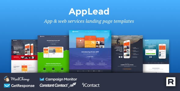 App Landing Pages by R_GENESIS ThemeForest