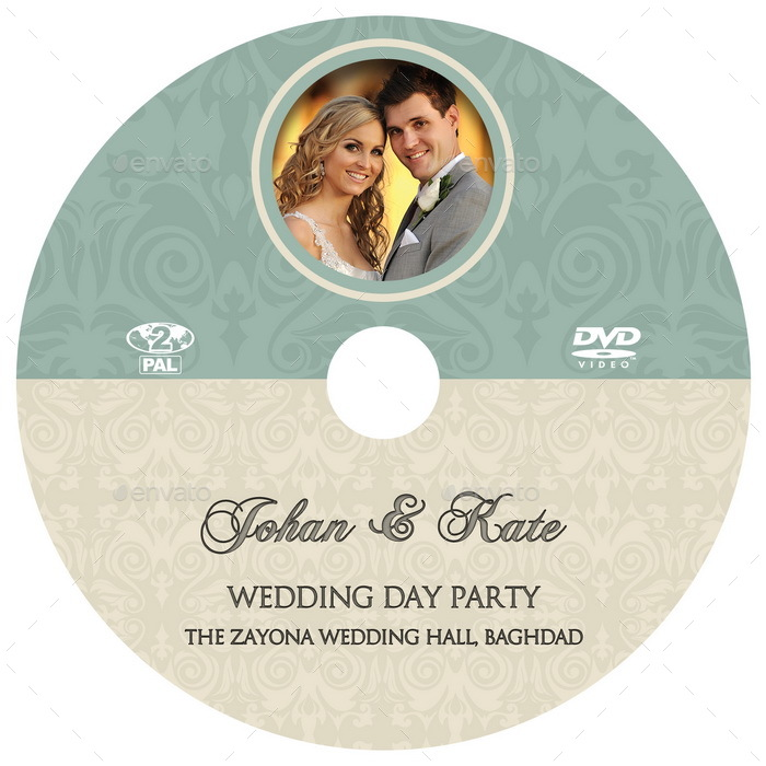 Wedding DVD Cover and DVD Label Template Vol8 by OWPictures